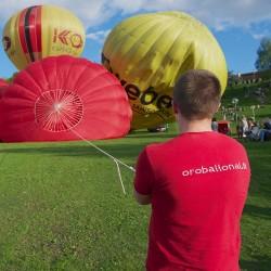 Skrydis oro balionu Šiauliuose